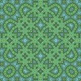 Διακόσμηση για το μαντίλι με το πράσινο σχέδιο στο υπόβαθρο κιρκιριών Στοκ Εικόνα