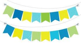 Διακόσμηση γιρλαντών σημαιών Στοκ Εικόνες