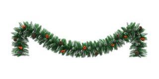 Διακόσμηση γιρλαντών Χριστουγέννων διανυσματική απεικόνιση