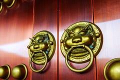 Διακόσμηση λιονταριών πυλών Στοκ Εικόνα