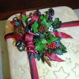 Διακόσμηση κέικ Χριστουγέννων Στοκ Εικόνες
