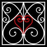 διακόσμηση καρδιών Στοκ Εικόνα