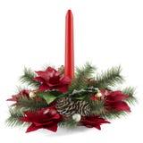 Διακόσμηση κεριών Χριστουγέννων Στοκ φωτογραφία με δικαίωμα ελεύθερης χρήσης