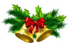 Διακόσμηση κουδουνιών Χριστουγέννων απεικόνιση αποθεμάτων