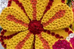 Διακόσμηση λουλουδιών στο φεστιβάλ λουλουδιών της Μαδέρας Νησιά της Μαδέρας Στοκ Εικόνες