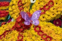 Διακόσμηση λουλουδιών στο φεστιβάλ λουλουδιών της Μαδέρας Νησιά της Μαδέρας Στοκ φωτογραφία με δικαίωμα ελεύθερης χρήσης