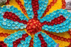 Διακόσμηση λουλουδιών στο φεστιβάλ λουλουδιών της Μαδέρας Νησιά της Μαδέρας Στοκ φωτογραφίες με δικαίωμα ελεύθερης χρήσης