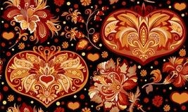 Διακόσμηση με τα λουλούδια και την καρδιά Στοκ Φωτογραφίες