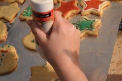 Διακόσμηση μπισκότων στοκ εικόνες με δικαίωμα ελεύθερης χρήσης