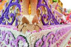 Διακόσμηση λουλουδιών από το φεστιβάλ λουλουδιών Chiang Mai, Ταϊλάνδη Στοκ Φωτογραφίες