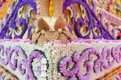 Διακόσμηση λουλουδιών από το φεστιβάλ λουλουδιών Chiang Mai, Ταϊλάνδη Στοκ Φωτογραφία