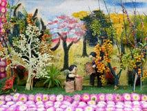 Διακόσμηση λουλουδιών από το φεστιβάλ λουλουδιών Chiang Mai, Ταϊλάνδη Στοκ φωτογραφία με δικαίωμα ελεύθερης χρήσης