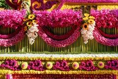 Διακόσμηση λουλουδιών από το φεστιβάλ λουλουδιών Chiang Mai, Ταϊλάνδη Στοκ Εικόνες