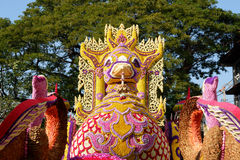 Διακόσμηση λουλουδιών από το φεστιβάλ λουλουδιών Chiang Mai, Ταϊλάνδη Στοκ φωτογραφίες με δικαίωμα ελεύθερης χρήσης