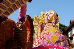 Διακόσμηση λουλουδιών από το φεστιβάλ λουλουδιών Chiang Mai, Ταϊλάνδη Στοκ εικόνα με δικαίωμα ελεύθερης χρήσης