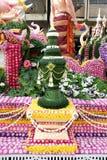 Διακόσμηση λουλουδιών από το φεστιβάλ λουλουδιών Chiang Mai Στοκ Εικόνες