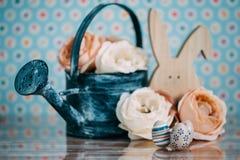 Διακόσμηση Πάσχας με τα χρώματα κρητιδογραφιών Στοκ Εικόνα