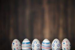 Διακόσμηση Πάσχας με τα χρώματα κρητιδογραφιών Στοκ Εικόνες