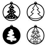 Διακόσμηση παιχνιδιών σφαιρών χριστουγεννιάτικων δέντρων ελεύθερη απεικόνιση δικαιώματος
