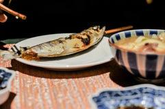 Διακόσμηση πιάτων, το σύνολο γευμάτων πιάτων Στοκ φωτογραφία με δικαίωμα ελεύθερης χρήσης