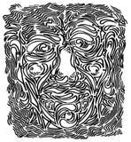 Διακόσμηση προσώπου doodle στοκ φωτογραφίες