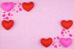 διακόσμηση ρομαντική, ST valentine& x27 έννοια ημέρας του s, τοπ άποψη του fla Στοκ Εικόνα