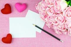 διακόσμηση ρομαντική, ST valentine& x27 έννοια ημέρας του s, τοπ άποψη του fla Στοκ εικόνες με δικαίωμα ελεύθερης χρήσης