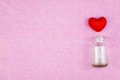 διακόσμηση ρομαντική, ST valentine& x27 έννοια ημέρας του s, τοπ άποψη του fla Στοκ Φωτογραφίες