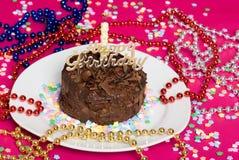 διακόσμηση σοκολάτας κέικ γενεθλίων Στοκ φωτογραφία με δικαίωμα ελεύθερης χρήσης