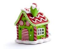 Διακόσμηση σπιτιών μελοψωμάτων Χριστουγέννων Στοκ φωτογραφία με δικαίωμα ελεύθερης χρήσης