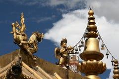 Διακόσμηση στεγών μοναστηριών σε Lhasa Στοκ Εικόνα