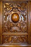 Διακόσμηση στην πόρτα ενός παλαιού κομμού Στοκ φωτογραφίες με δικαίωμα ελεύθερης χρήσης