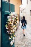 Διακόσμηση στην πόρτα Στοκ εικόνα με δικαίωμα ελεύθερης χρήσης