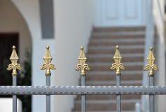 Διακόσμηση στην πύλη Στοκ εικόνα με δικαίωμα ελεύθερης χρήσης