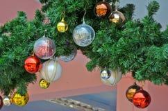 Διακόσμηση στη ημέρα των Χριστουγέννων Στοκ εικόνα με δικαίωμα ελεύθερης χρήσης