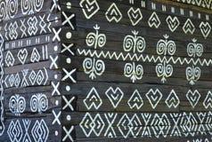 Διακόσμηση στο παλαιό ξύλινο σπίτι Στοκ Εικόνες