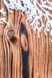 Διακόσμηση συνόρων ελαιόπρινου Χριστουγέννων Στοκ φωτογραφία με δικαίωμα ελεύθερης χρήσης
