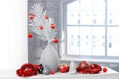 Διακόσμηση σχεδίου για τα Χριστούγεννα Στοκ Εικόνες
