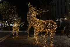 Διακόσμηση ταράνδων Χριστουγέννων στοκ φωτογραφία με δικαίωμα ελεύθερης χρήσης