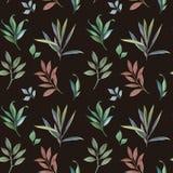 Διακόσμηση τα φύλλα που χρωματίζονται από με το watercolor ελεύθερη απεικόνιση δικαιώματος