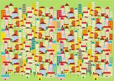 Διακόσμηση της έγχρωμης πόλης Στοκ Εικόνα