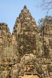 Διακόσμηση της πύλης στην αρχαία πόλη Angkor Στοκ Φωτογραφίες