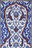 Διακόσμηση τοίχων κεραμιδιών του μουσουλμανικού τεμένους πασάδων Rustem, Ιστανμπούλ Στοκ φωτογραφία με δικαίωμα ελεύθερης χρήσης