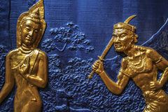 Διακόσμηση τοίχων σε έναν βουδιστικό ναό, Τζωρτζτάουν, Penang, Μαλαισία Στοκ φωτογραφία με δικαίωμα ελεύθερης χρήσης