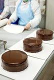 Διακόσμηση του κέικ Στοκ Εικόνες