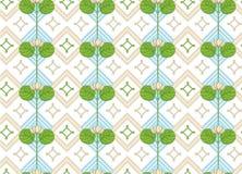 Διακόσμηση του λωτού floral πρότυπο άνευ ραφής Στοκ Φωτογραφίες