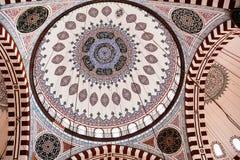 Διακόσμηση του μουσουλμανικού τεμένους Sehzade, που χτίζεται ανώτατη το 1548 από Mimar Sin Στοκ Εικόνες