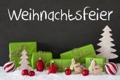 Διακόσμηση, τσιμέντο, χιόνι, γιορτή Χριστουγέννων μέσων Weihnachtsfeier Στοκ φωτογραφία με δικαίωμα ελεύθερης χρήσης