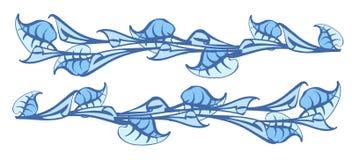 Διακόσμηση των κρίνων και των φύλλων Διανυσματική απεικόνιση της Calla Ελεύθερη απεικόνιση δικαιώματος