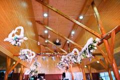 Διακόσμηση των λουλουδιών στη δεξίωση γάμου, floral διακόσμηση Στοκ φωτογραφίες με δικαίωμα ελεύθερης χρήσης